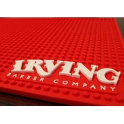 Irving Barber Company Workstation Mat Red