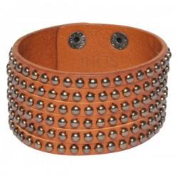 Wldcat Gun Leather Bracelet Cognac