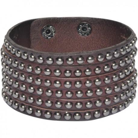 Wldcat Gun Leather Bracelet Brown