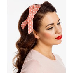 Lindy Bop Pastel Pink Polka Dots Bow Headband
