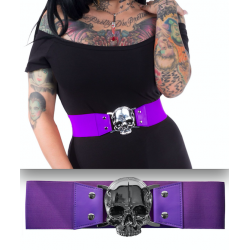 Kreepsville666 Belt Skull Purple