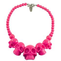 Kreepsville666 Skull Necklace Pink