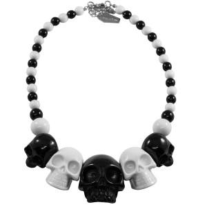 Kreepsville666 Skull Necklace Black & White