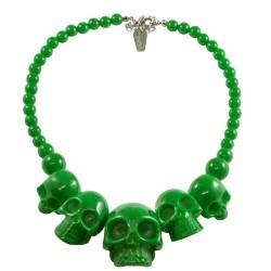 Kreepsville666 Skull Necklace Green