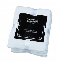 Barburrys - Serviettes Double-Face - Blanc