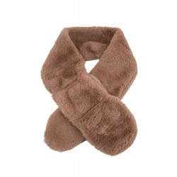 Collectif Faux Fur Scarf Beige