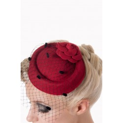 Banned Retro Marilyn Hat Burgundy