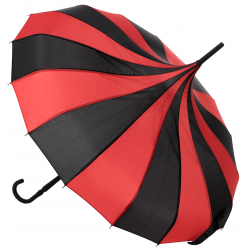 Sourpuss Umbrella Black & Red