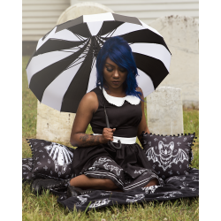 Sourpuss Umbrella Black & White