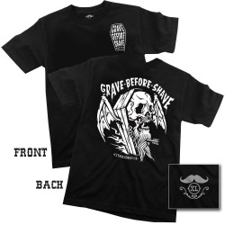 Grave Before Shave - Viking Funeral Tshirt