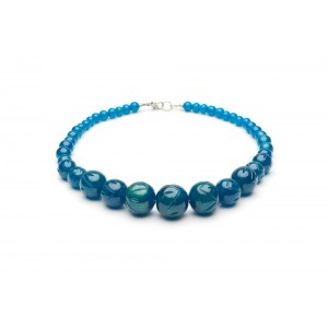 Golden Teal Fakelite Beads