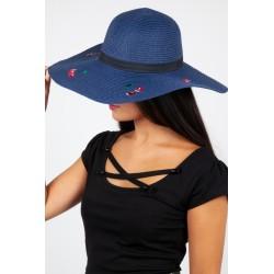 Voodoo Vixen Cherry Sun Hat Navy