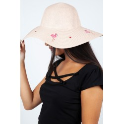 Voodoo Vixen Flamingo Sun Hat Pink