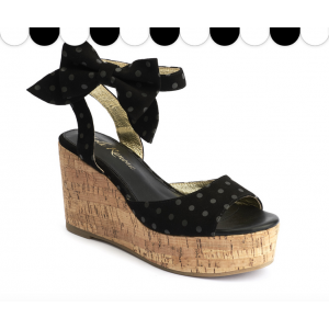 Lola Ramona Nina Polka Dots Wedge Sandals