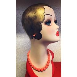 Collectif Natalie Bead Necklace Set Orange