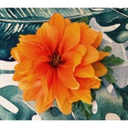 Collectif Claire Hair Flower Orange