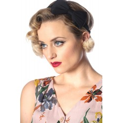 Banned Retro Dionne Bow Headband Black