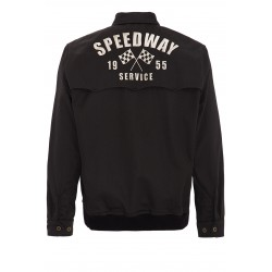 King Kerosin Gabardine Jacket Speedway Black