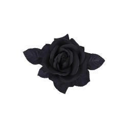 Collectif Loy Rose Hair Flower Black