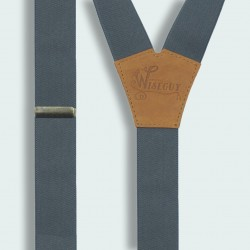 Wiseguy Gray Camel Brown Suspenders Wide