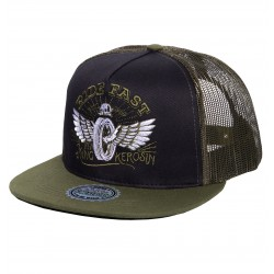 King Kerosin Trucker Cap Ride Fast