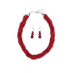 Collectif Isla Necklace Set Red