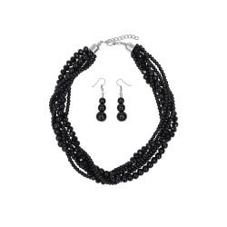 Collectif Isla Necklace Set Black