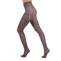 Leopard Printed Tights Natural