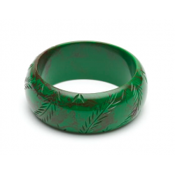 Wide Fern Fakelite Bangle