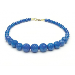 Periwinkle Carved Fakelite Beads