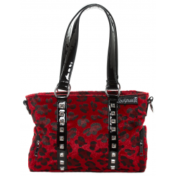 Sourpuss Leo Stud Purse Red