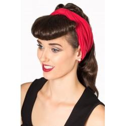 Banned Rockabilly Retro Headband Red