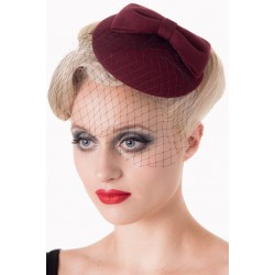 Banned Retro 50s Candice Hat Burgundy