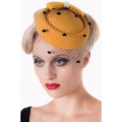 Banned Retro 50s Judy Hat Mustard