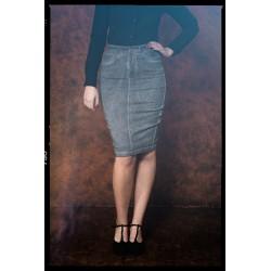 Queen Kerosin Denim Pencil Skirt Oilwash