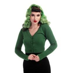 Collectif Kimberley Knitted Bolero Green