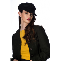 Banned Newsboy Cap Black