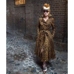 Collectif Vintage Scarlett Leo Trench Coat