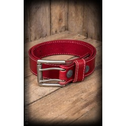 Rumble59 Leather Belt Red