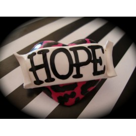 Hope Heart Pink Leopard