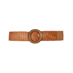 Collectif Alicia Woven Belt Brown