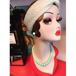 Collectif Natalie Bead Necklace Set Mint
