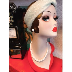 Collectif Natalie Bead Necklace Set White