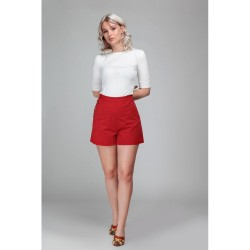 Collectif Adriana Shorts Red