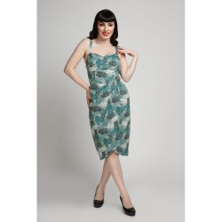 Collectif Mahina Cool Palm Sarong Dress