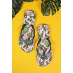 Lulu Hun Lola Palm Flip Flops Pink