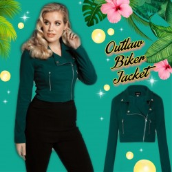 Collectif Outlaw Biker Jacket Green