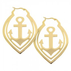 Wildcat Steel Golden Anchor Hoops