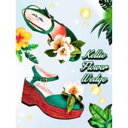 Lulu Hun Kellie Flower Wedge