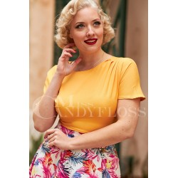 Miss Candyfloss Clementine Dolman 50's Top
